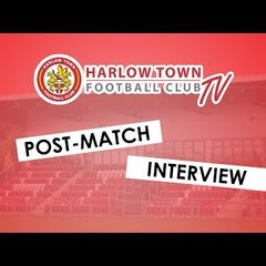 Harlow Town FC vs Carshalton Athletic post match interview - 13/10/18