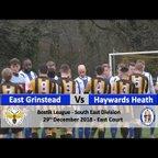 East Grinstead Town vs Haywards Heath Town - 29th December 2018