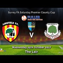 Lingfield FC 8v0 Ash Utd - Surrey County Cup - 25-10-2017 - Highlights