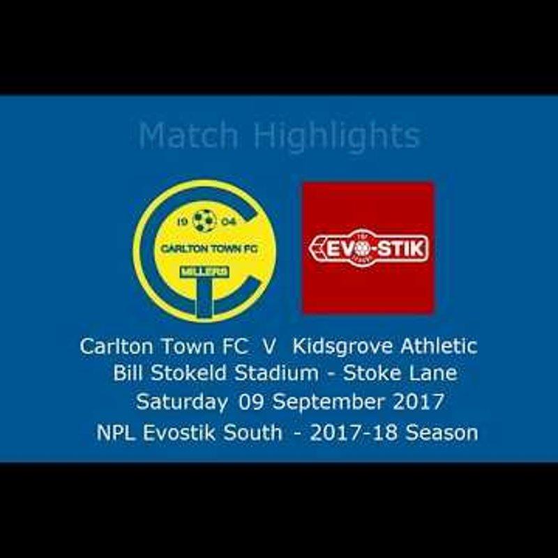 Carlton Town v Kidsgrove Athletic - Highlights 09/09/2017
