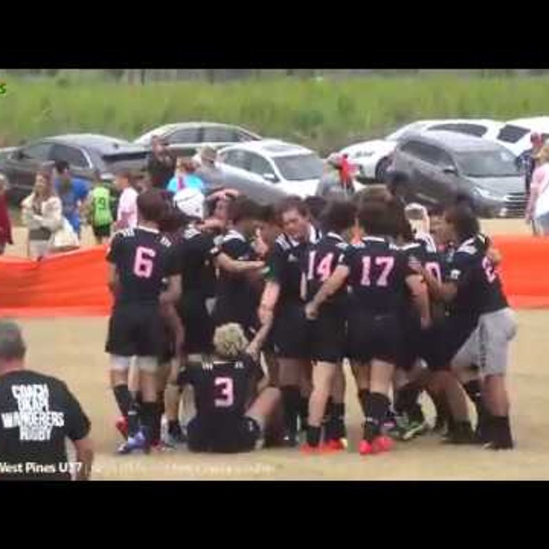 Okapi  Wanderers Rugby FC U17 vs West Pines Rugby highlights 04 21 2018