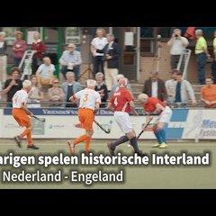 80-jarigen spelen historische interland Nederland - Engeland