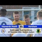 Haywards Heath Town vs Horsham - 22nd December 2018