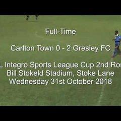Carlton Town v Gresley FC - Match Highlights 31/10/18