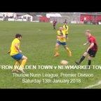 Saffron Walden Town v Newmarket Town. Season 2017-18