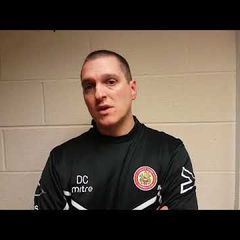 Harlow Town FC vs Thurrock post match interview - 05/09/17
