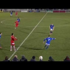United 0 - 1 Workington - Cumberland Cup match action