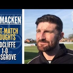 "Jon Macken: ""It was a scrappy and battling game"" 
