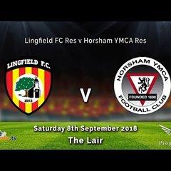 Lingfield Res v Horsham YMCA Res - 08-09-2018 - HIGHLIGHTS
