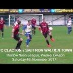 FC Clacton v Saffron Walden Town. Season 2017-18