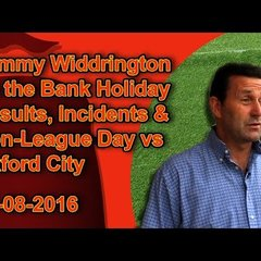 Tommy Widdrington on Ebbsfleet, East Thurrock, Oxford and Romain's Red Card
