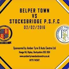 Belper Town 2 - 1 Stocksbridge Park Steels 2nd February 2016 Highlights