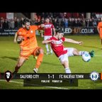 Salford City 1-1 FC Halifax Town - National League North play-off semi final first leg