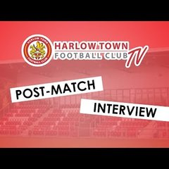 Harlow Town FC vs AFC Hornchurch post match interview - 29/12/18