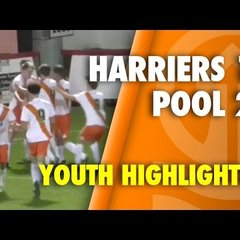 The Millers Connor Perry-Holmes scores the equaliser for Harriers v Blackpool FC. FA Youth Cup