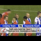 Crawley Town vs Haywards Heath Town - 6th November 2018