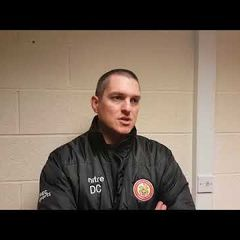 Harlow Town FC vs Dulwich Hamlet post match interview - 11/11/17