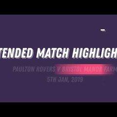 EXTENDED HIGHLIGHTS: PAULTON ROVERS 1 - 2 BRISTOL MANOR FARM (5TH JAN 2019)