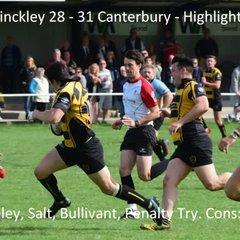 Hinckley 28 - 31 Canterbury - Highlights