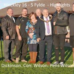 Hinckley 16 - 5 Fylde - Highlights