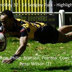 Hinckley 32 - 14 Sedgley Park - Highlights