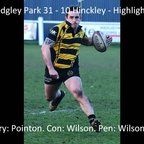 Sedgley Park 31 - 10 Hinckley - Highlights
