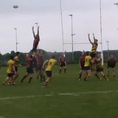 Jake Duddles try v Consett Sat. 23rd Sept. 2017