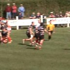 Richie Kevern cuts through the Lydney defence to score