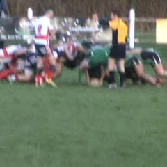 Rhys Brownfield goes over for Town's 2nd try against Ivybridge.