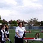 Acle United Ladies Receiving Their League Runners-Up Medals