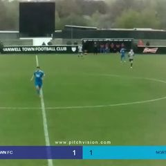 Highlights Hanwell Town v Northwood - Harry Rush Goal