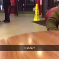 Henson in McDonalds on hidden camera