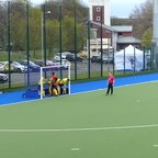 Jack Rathbone makes an important early save v Stepps in the Scottish Plate Final