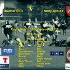 Dunbar RFC 36 v Trinity 32, (4 of the Trinity scores)