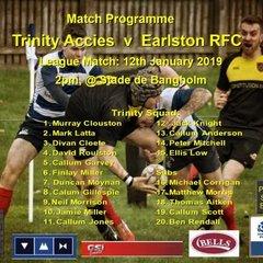 Try time  Trinity Accies 50 Earlston RFC 07  12-01-19