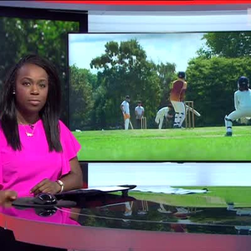 Mitcham CC on BBC news