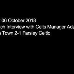 06 October 2018 - Adam Lakeland's post-match interview following the Celts 2-1 defeat at Nantwich Town