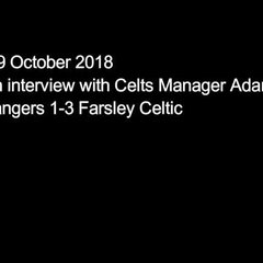 09 October 2018 - Adam Lakeland's post-match interview following the Celts 3-1 win at Stafford Rangers
