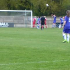 Beth Ragdale scores the openeing goal of the County Cup Final