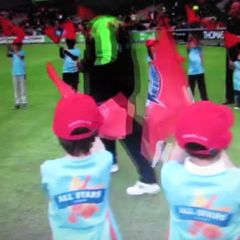 Wythenshawe CC All Stars Guard of Honour Lancs v Yorks T20 at EOT 14th July '17
