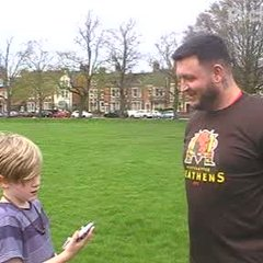 Pre Match interview with Ross Sharp. Conducted by Heathens interiewer, Ryder Stonehouse