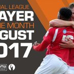 Official Vanarama National League Players Of The Month - August