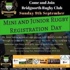 Mini and Juniors Training - Come and Join us