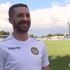 Ian Herring visibly jubilant after first win of the season against Dartford