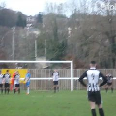 Thatcham go in front with a free kick