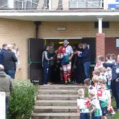 Hull Ionians V Fylde with u11's Warriors as Mascots