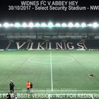 Widnes FC Vs Abbey Hey (30.10.17)