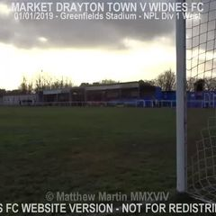 Market Drayton Town Vs Widnes FC (01.01.19)