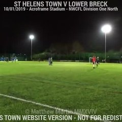 St Helens Town Vs Lower Breck (10.01.19)