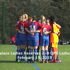 Reserves Highlights: Palace 2-0 QPR